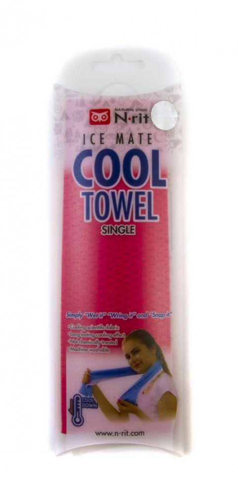 N-rit Icemate coll towel single růžový