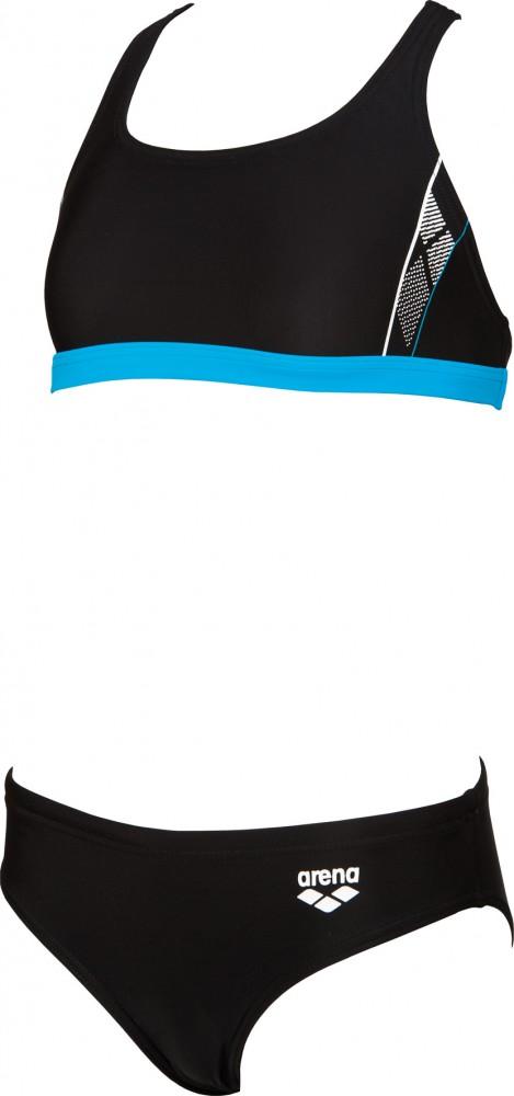 f09eb578dd5 Arena Skid dívčí dvoudílné sportovní plavky černá