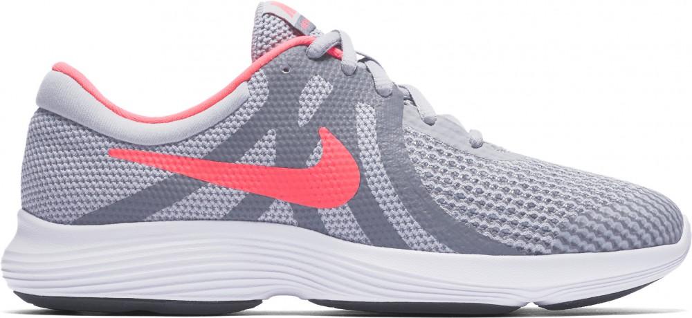Nike Revolution 4 dětská obuv na volný čas tm. šedá růžová empty e6b924836d