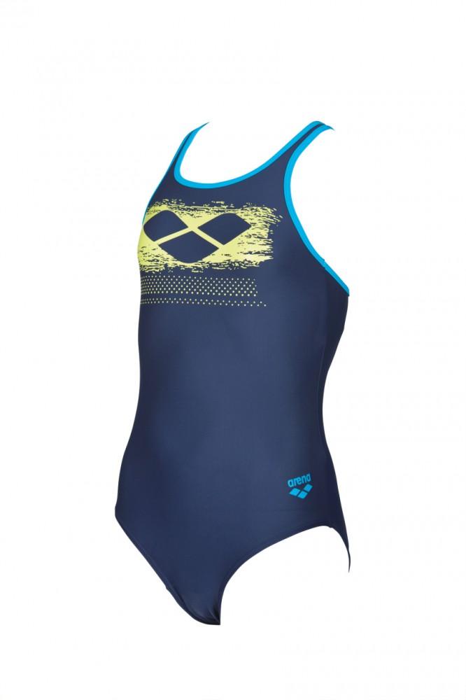 806019d3d87 Arena Scratchy dívčí celkové sportovní plavky tm.modrá sv. modrá