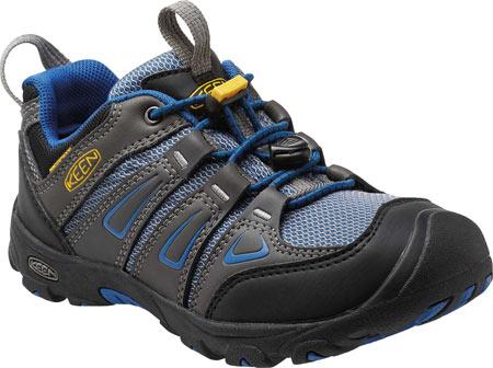 f3c55a925e1 Keen Oakridge Low WP dětská treková obuv magnet true blue empty