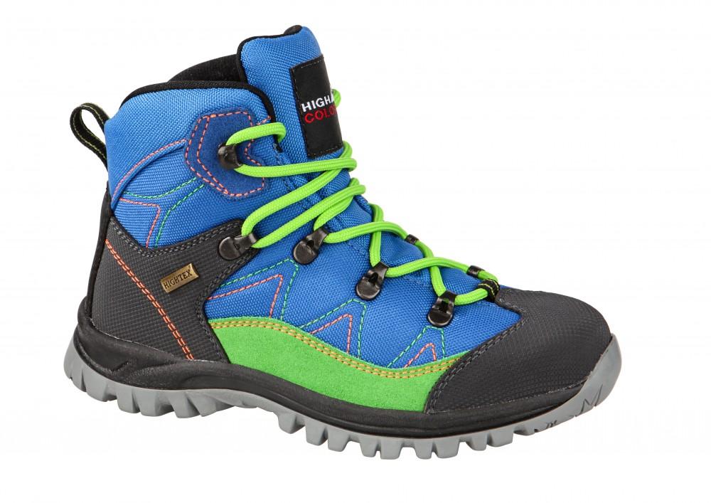 b08711fa844 High Colorado Trek Lite dětská treková obuv modrá zelená vel.